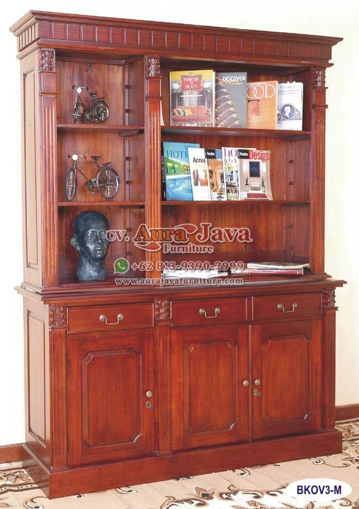 Open Bookcase Victorian 3 Doors