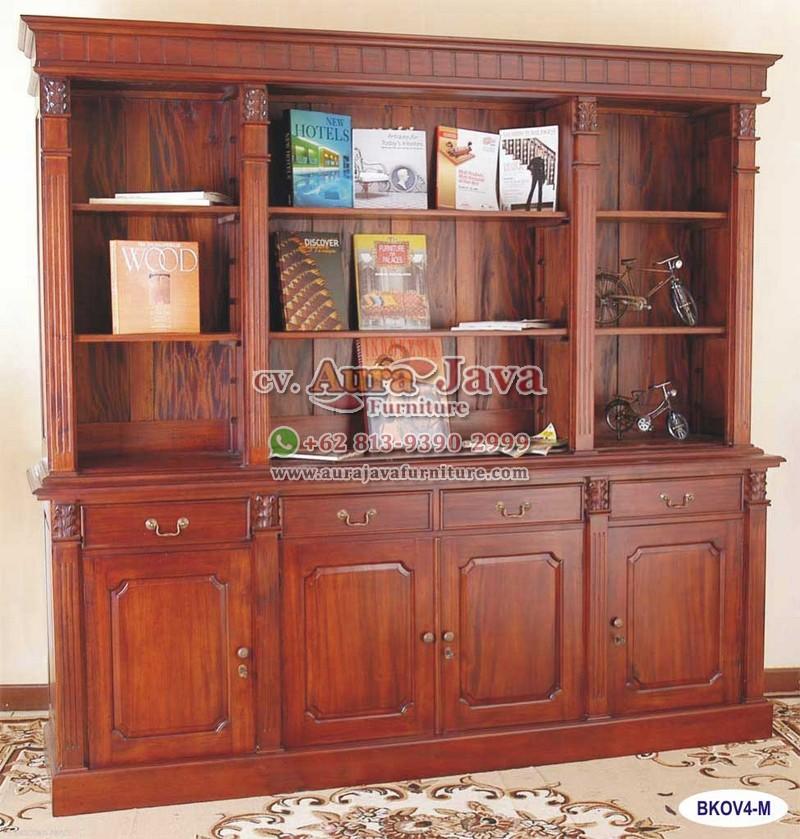 Open Bookcase Victorian 4 Doors